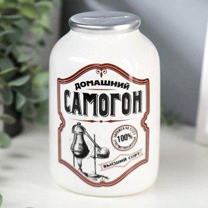 "Копилка керамика банка ""Домашний самогон"" 15х9,5х9,5 см"
