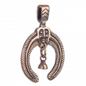 Подвеска оберег «Птицевидный идол»  латунь высота 43, ширина 31