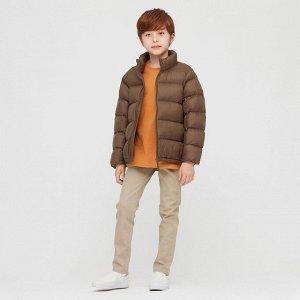 Детский пуховик, коричневый