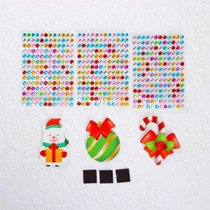 Набор для творчества «Новогодние магнитики: мишка, леденец, шарик»