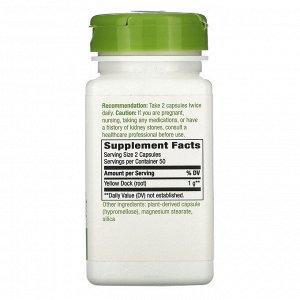 Nature&#x27 - s Way, Yellow Dock Root, 1,000 mg, 100 Vegan Capsules