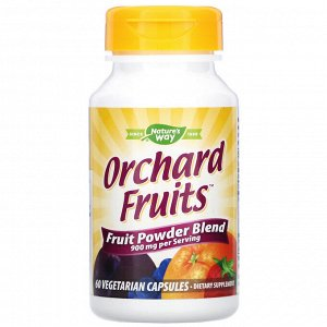 Nature&#x27 - s Way, Orchard Fruits, Fruit Powder Blend, 900 mg, 60 Vegetarian Capsules