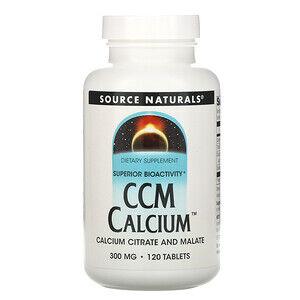 Source Naturals, CCM кальций, 300 мг, 120 таблеток