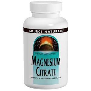 Source Naturals, Цитрат магния, 133 мг, 180 капсул