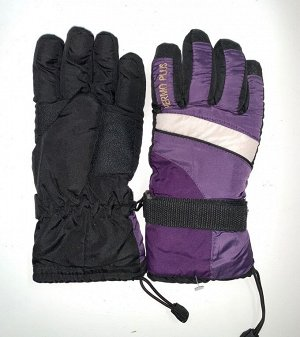 Перчатки Теплые зимние перчатки с яркими вставками  №4470