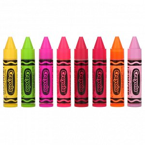Lip Smacker, Crayola, набор бальзам для губ, 8 в упаковке, 4,0 г (0,14 унции) каждый