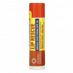 Desert Essence, Lip Rescue, SPF 30, Tropical Fruit, .15 oz (4.25 g)