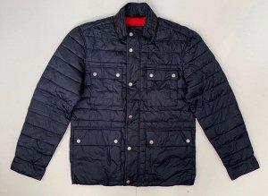 Оригинальная темно-синяя куртка для мужчин  №3590