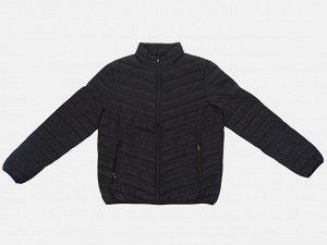 Черная мужская стеганая куртка JCT & CO Демисезонная модель, необходимая в любой гардероб. №3881