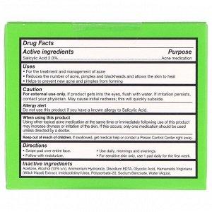 Cane + Austin, Диски для устранения акне Acne Retexture, с 2% салициловой и 5% гликолевой кислотой, 60 шт.