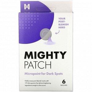 Hero Cosmetics, Mighty Patch, Micropoint, патчи против темных кругов, 6 шт.