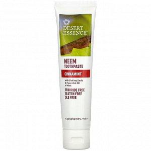 Desert Essence, Натуральная зубная паста с нимом, Cinnamint, 6,25 унции (176 г)
