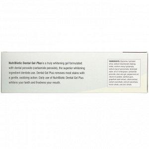 NutriBiotic,  - Гель для зубов плюс - , гель для зубов, по-настоящему отбеливающий, с гаультерией, 4,5 унций (128 г)