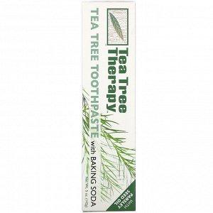 Tea Tree Therapy, Зубная паста с экстрактом чайного дерева и пищевой содой, 142 г