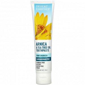 Desert Essence, Arnica & Tea Tree Oil Toothpaste, Wintergreen, 6.25 oz (176 g)