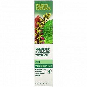 Desert Essence, Prebiotic, Plant-Based Toothpaste, Mint, 6.25 oz (176 g)