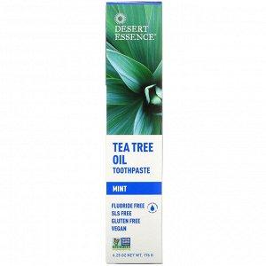 Desert Essence, Зубная паста с маслом чайного дерева и мятой, 6,25 унц. (176 г)