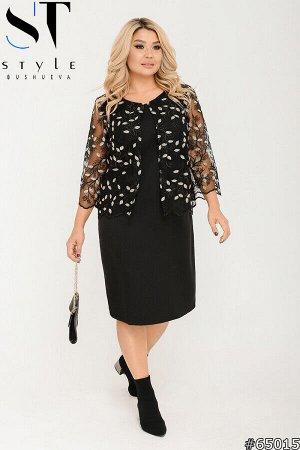 Комплект двойка 65015 (платье+болеро)
