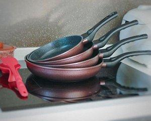 Сковорода Gochu Ecoramic 28 см с мраморным покрытием для индукционных плит без крышки