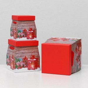 Набор коробок 3 в 1 трапеция, 19,5 х 22 - 12,5 х 15 см
