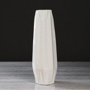 """Ваза настольная """"Жаклин"""". цвет белый. 31 см. керамика"""