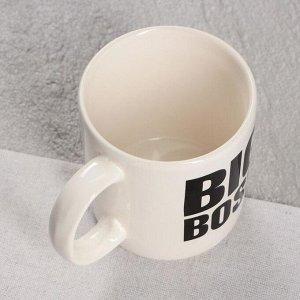 Кружка Big Boss, белая, деколь, 0.35 л