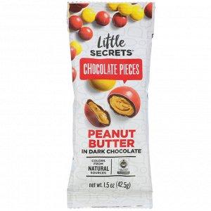 Little Secrets, Dark Chocolate Pieces, Peanut Butter, 1.5 oz (42.5 g)