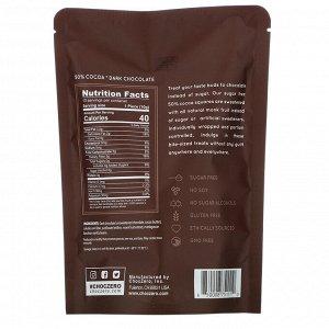 ChocZero, 50% Cocoa Dark Chocolate Squares, Sugar Free, 10 Pieces, 3.5 oz Each