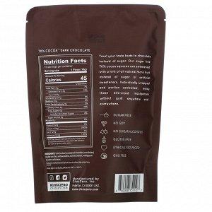 ChocZero, 70% Cocoa Dark Chocolate Squares, Sugar Free, 10 Pieces, 3.5 oz Each