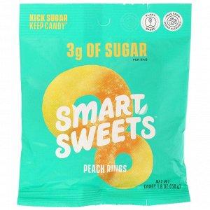 SmartSweets, Peach Rings, Peach, 1.8 oz (50 g)