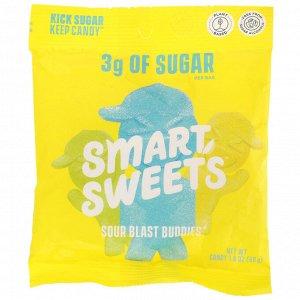SmartSweets, Sour Blast Buddies, Berry, Blue Raspberry, Lime, Lemon, Orange, 1.8 oz (50 g)