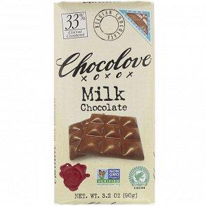 Chocolove, Milk Chocolate, 3% Cocoa, 3.2 oz (90 g)