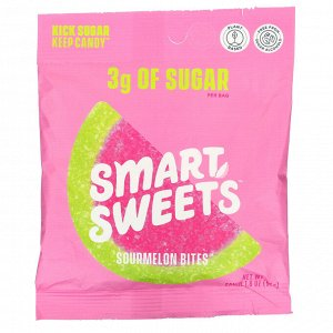 SmartSweets, Sourmelon Bites, Watermelon, 1.8 oz (50 g)