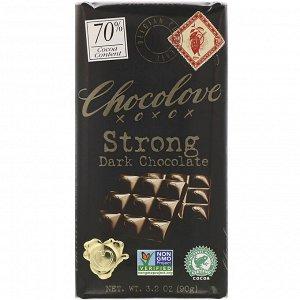 Chocolove, Strong Dark Chocolate, 70% Cocoa, 3.2 oz (90 g)