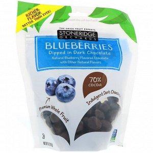Stoneridge Orchards, Голубика в темном шоколаде, 70% какао, 142 г (5 унций)