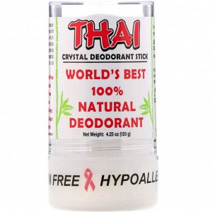 Thai Deodorant Stone, Thai Crystal Deodorant Stick, 4.25 oz (120 g)