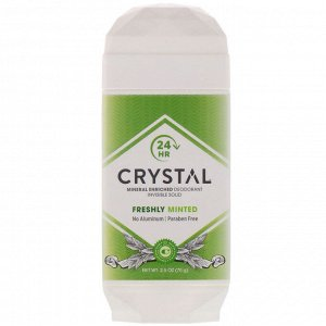 Crystal Body Deodorant, Mineral Enriched Deodorant, Invisible Solid, Freshly Minted, 2.5 oz (70 g)