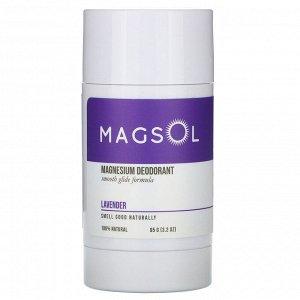 Magsol, Magnesium Deodorant, Lavender, 3.2 oz (95 g)