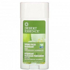 Desert Essence, Дезодорант, запах весенней свежести 2.5 унции (70 мл)