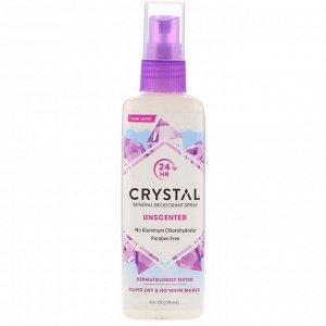 Crystal Body Deodorant, Минеральный аэрозольный дезодорант, без запаха, 118 мл