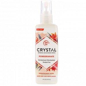 Crystal Body Deodorant, Минеральный аэрозольный дезодорант, с запахом граната, 118 мл (4 жидк. унции)