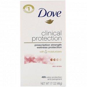 Dove, Clinical Protection, дезодорант-антиперспирант, «Обновление кожи», 48 г (1,7 унции)