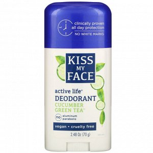 Kiss My Face, Active Life Deodorant, Cucumber Green Tea, 2.48 oz (70 g)