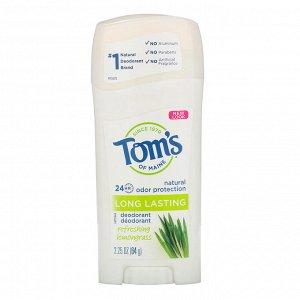 Tom&#x27 - s of Maine, Natural Long Lasting Deodorant, Refreshing Lemongrass, 2.25 oz (64 g)