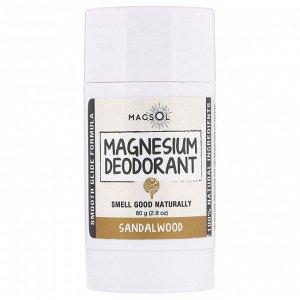 Magsol, Дезодорант с магнием, сандал, 80 г