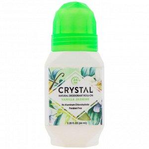 Crystal Body Deodorant, Натуральный шариковый дезодорант, Ваниль и жасмин, 2,25 ж. унц.(66 мл)