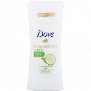 Dove, Дезодорант-антиперспирант Advanced Care Go Fresh, аромат «Основы прохлады», 74 г