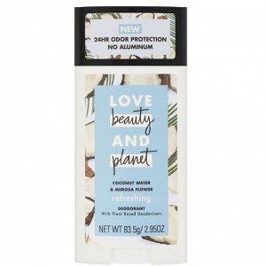 Love Beauty and Planet, Освежающий дезодорант «Кокосовая вода и цветы мимозы», 83,5 г