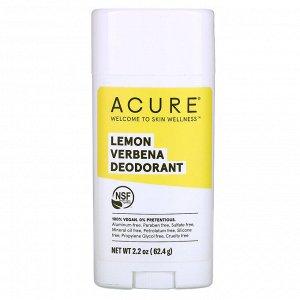 Acure, Дезодорант, лимонная вербена, 63,78 г (2,25 унции)