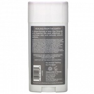 Zion Health, Мужской дезодорант ClayDry, сандал, 80 г (2,8 унции)